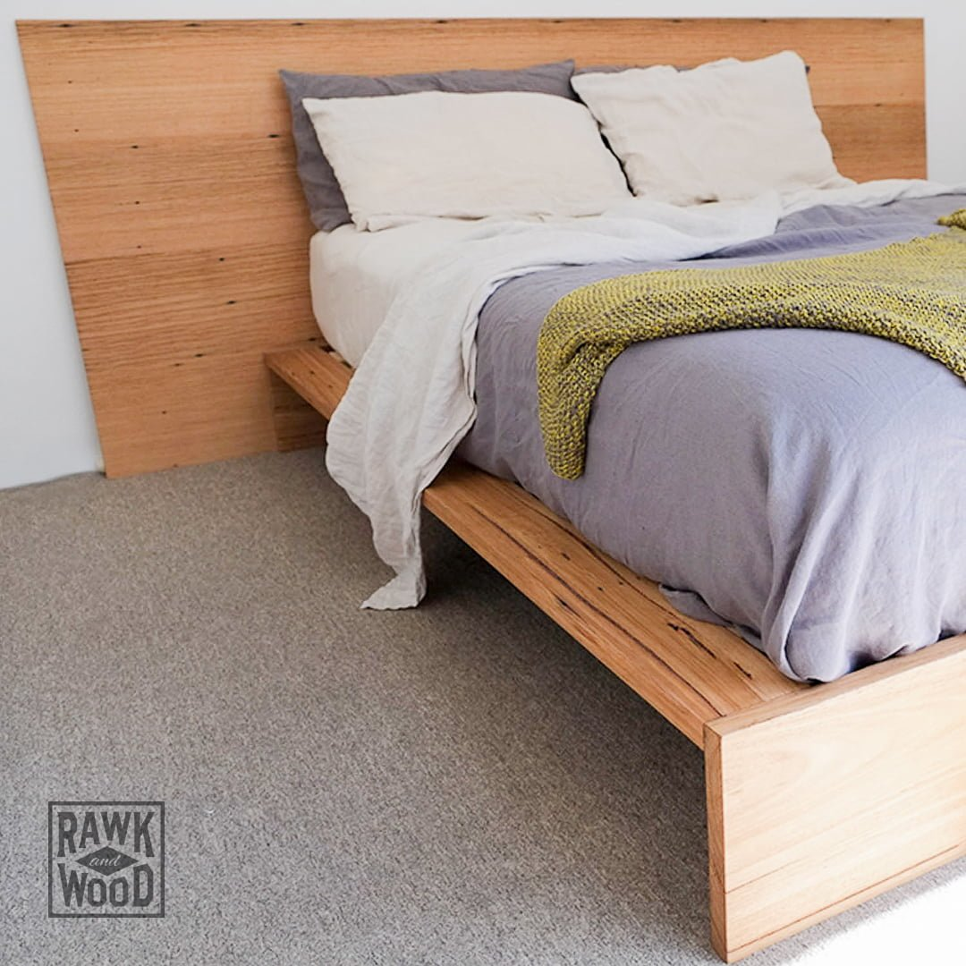 Recycled-Timber-Bed, made in Melbourne by Rawk and Wood