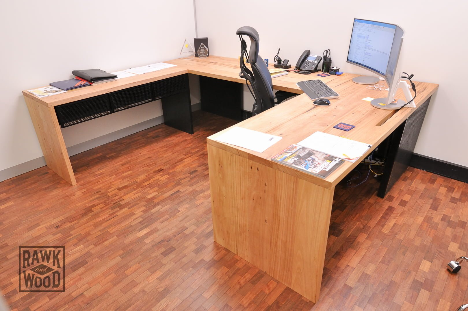 Recycled-Timber-Desk, made in Melbourne by Rawk and Wood