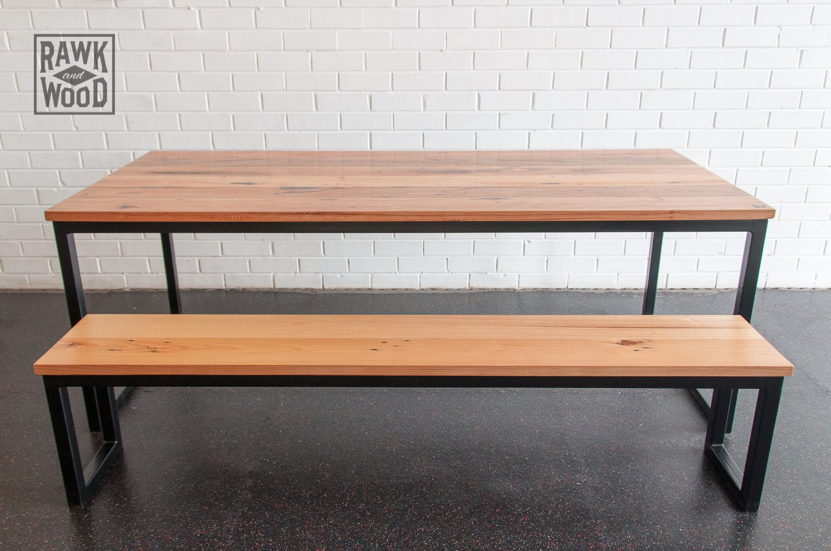 Recycled-Timber-Dining-Setting, made in Melbourne by Rawk and Wood