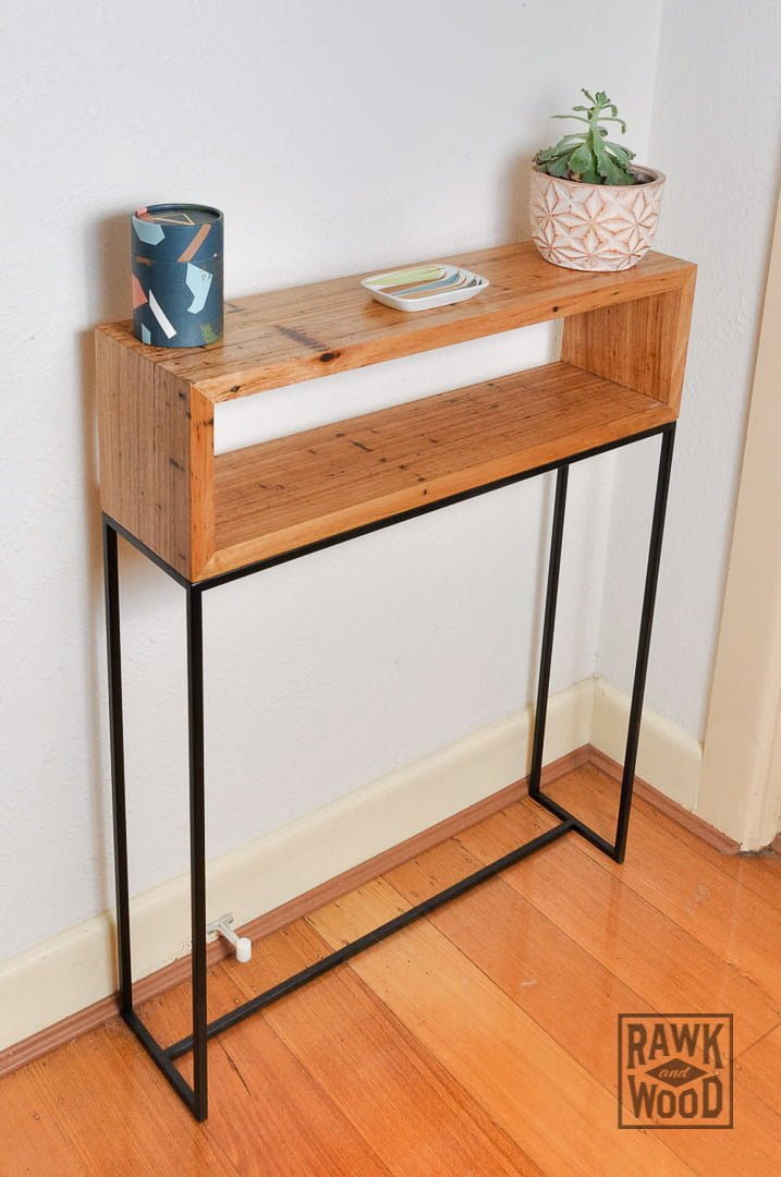 Recycled-Timber-Hall-Table, made in Melbourne by Rawk and Wood