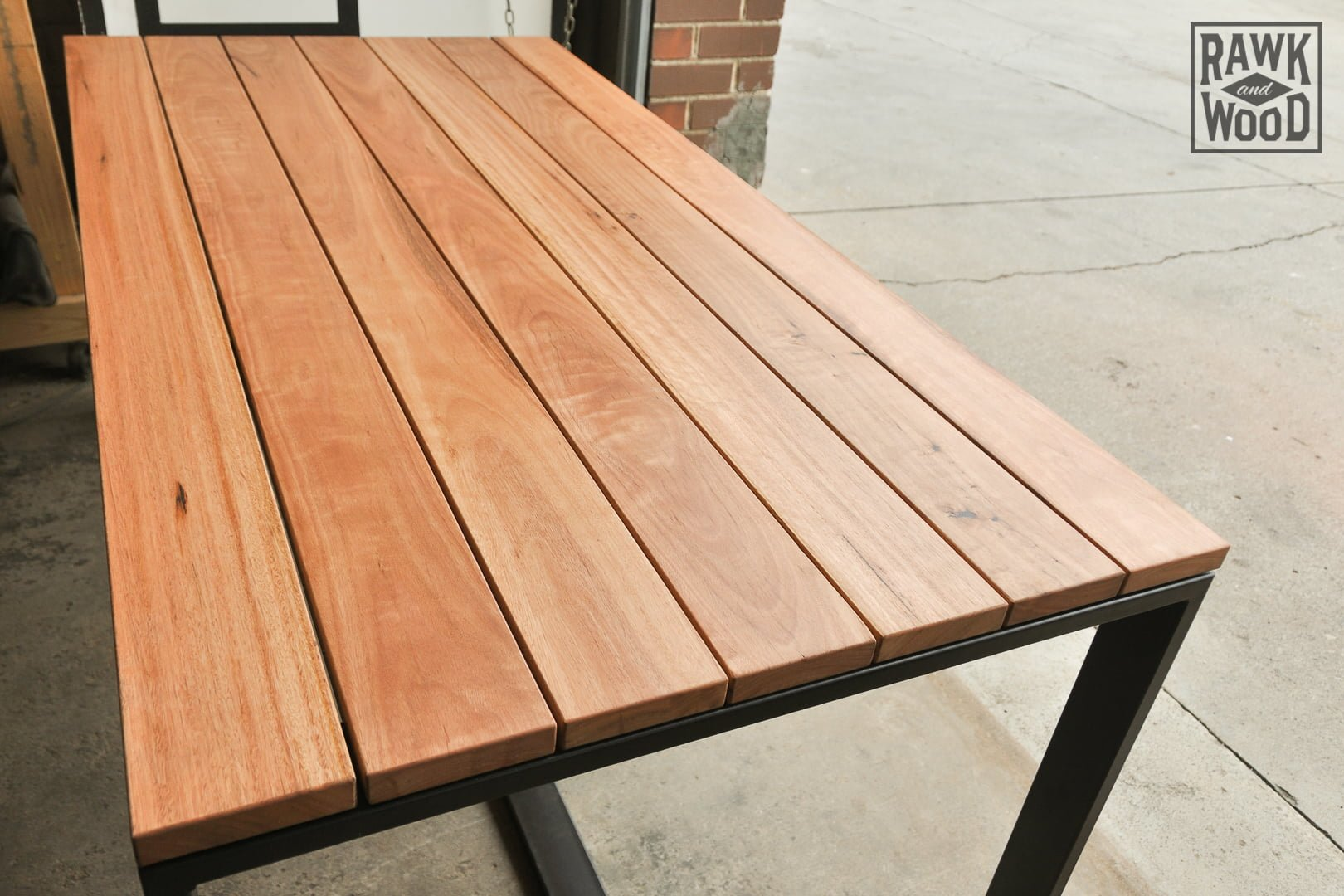 Recycled-Timber-Outdoor-Setting, made in Melbourne by Rawk and Wood