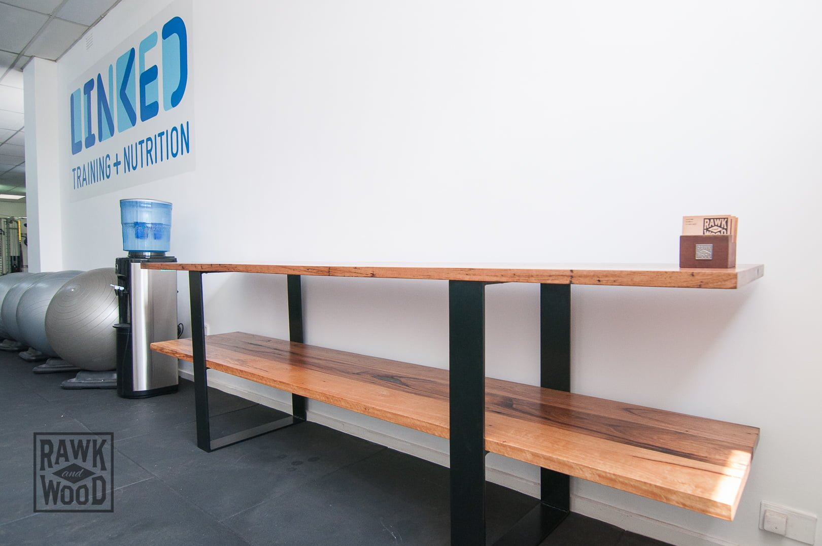 Recycled-Timber-Reception-Desk, made in Melbourne by Rawk and Wood