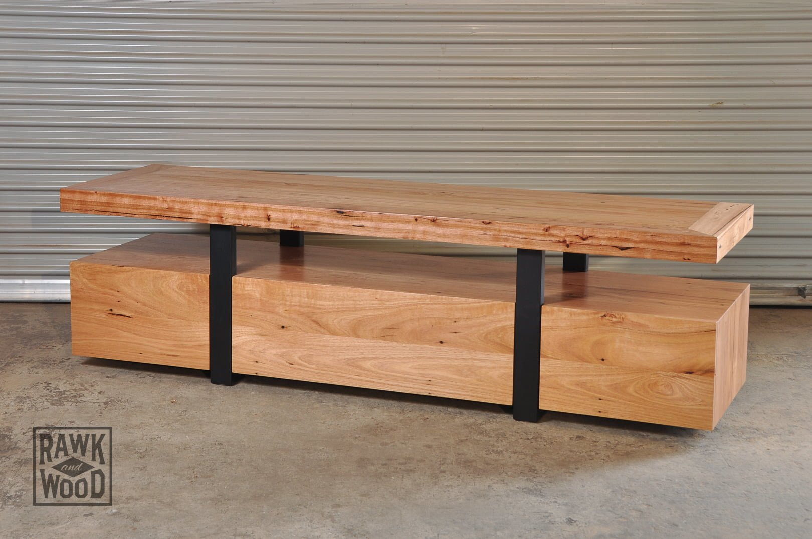 Recycled-Timber-TV-Unit, made in Melbourne by Rawk and Wood