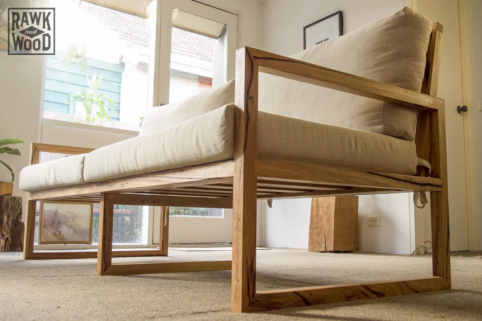 Recycled-Timber-Sofa, made in Melbourne by Rawk and Wood
