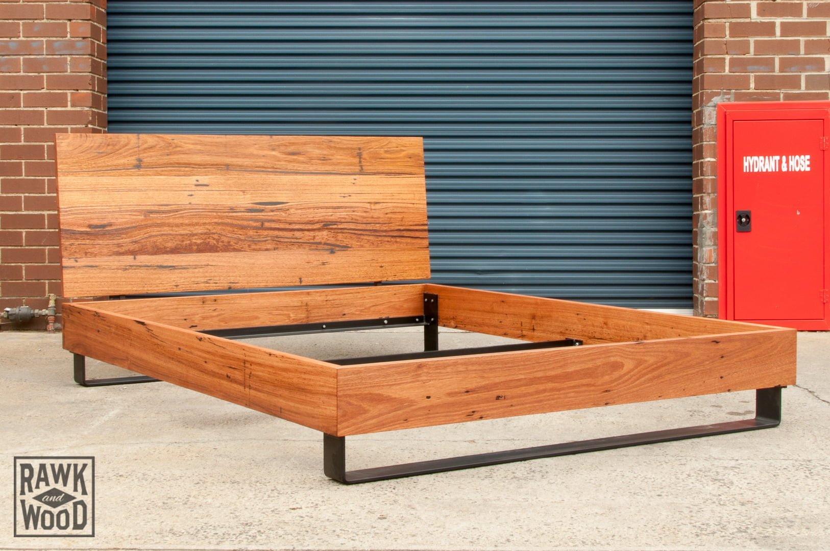 Recycled-Timber-Bed-Frame-01, made in Melbourne by Rawk and Wood