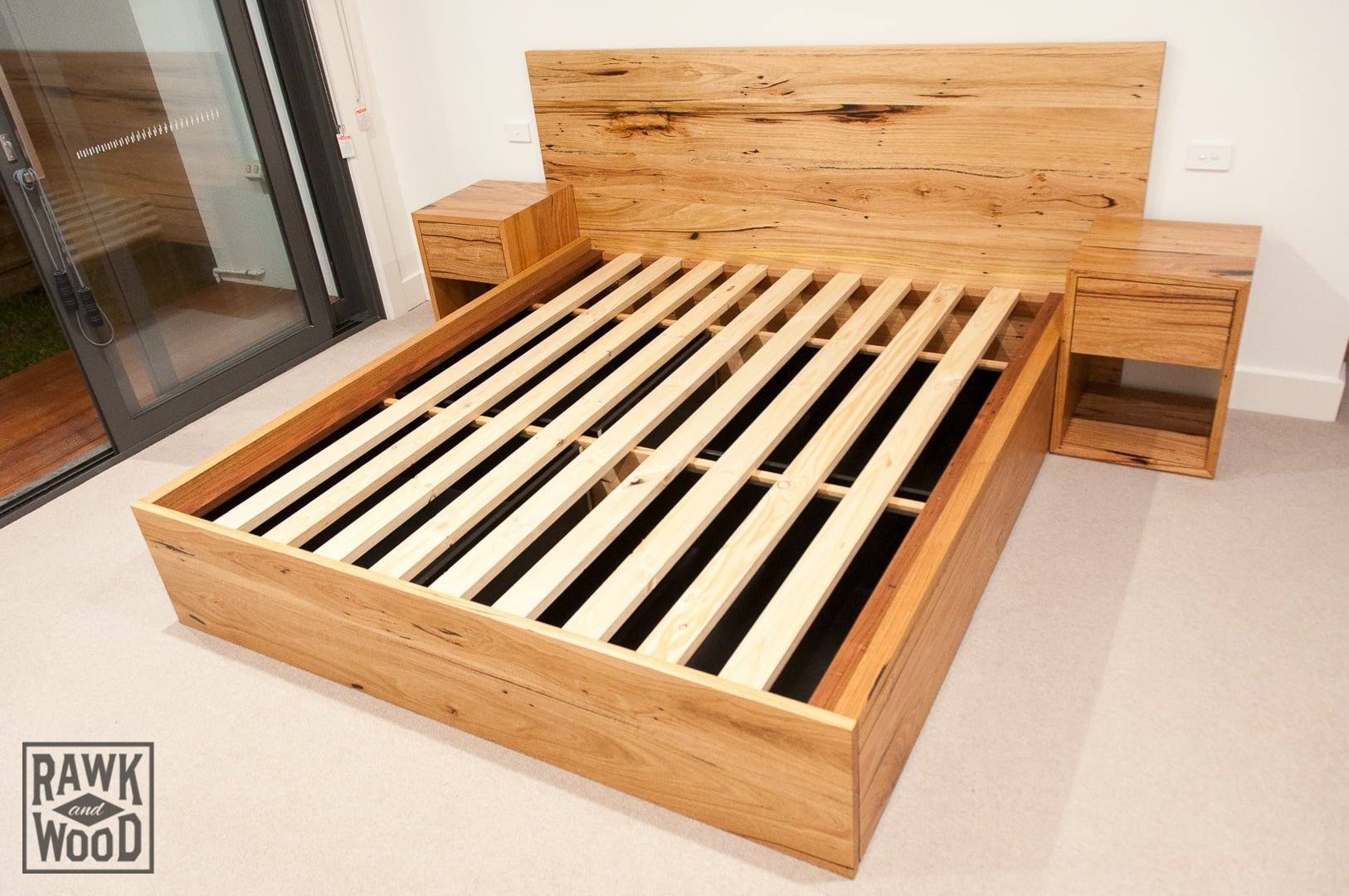 Recycled-Timber-Storage-Bed-02, made in Melbourne by Rawk and Wood