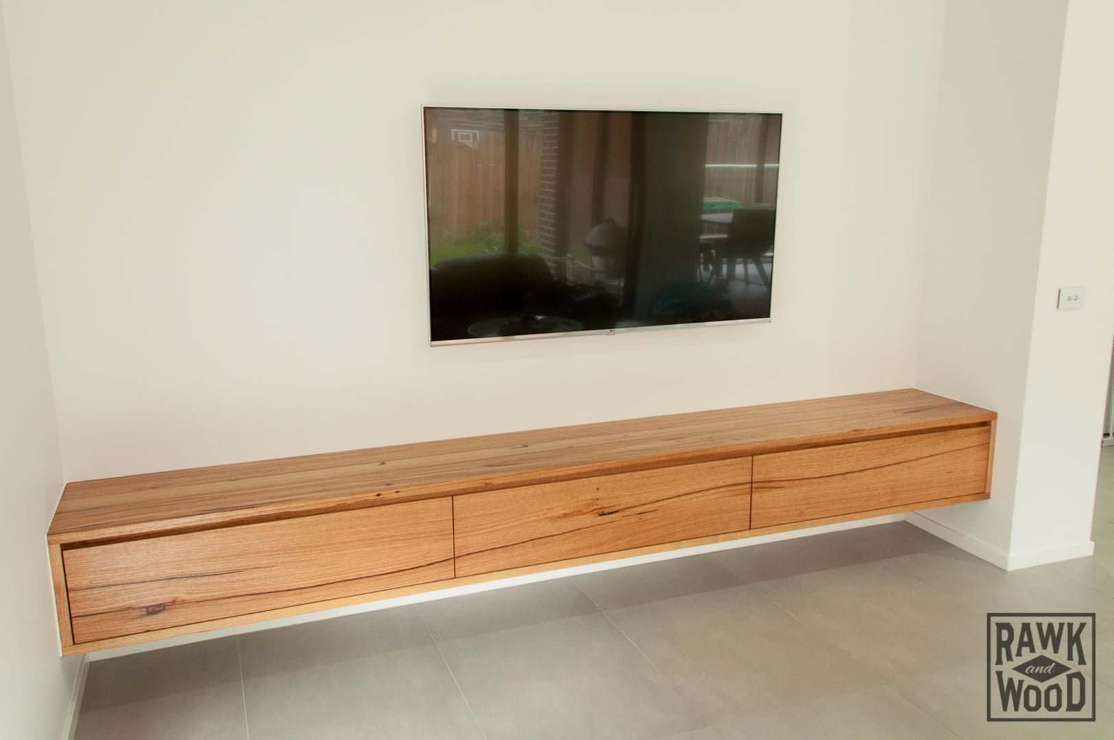 Recycled-Timber-TV-Unit-01, made in Melbourne by Rawk and Wood