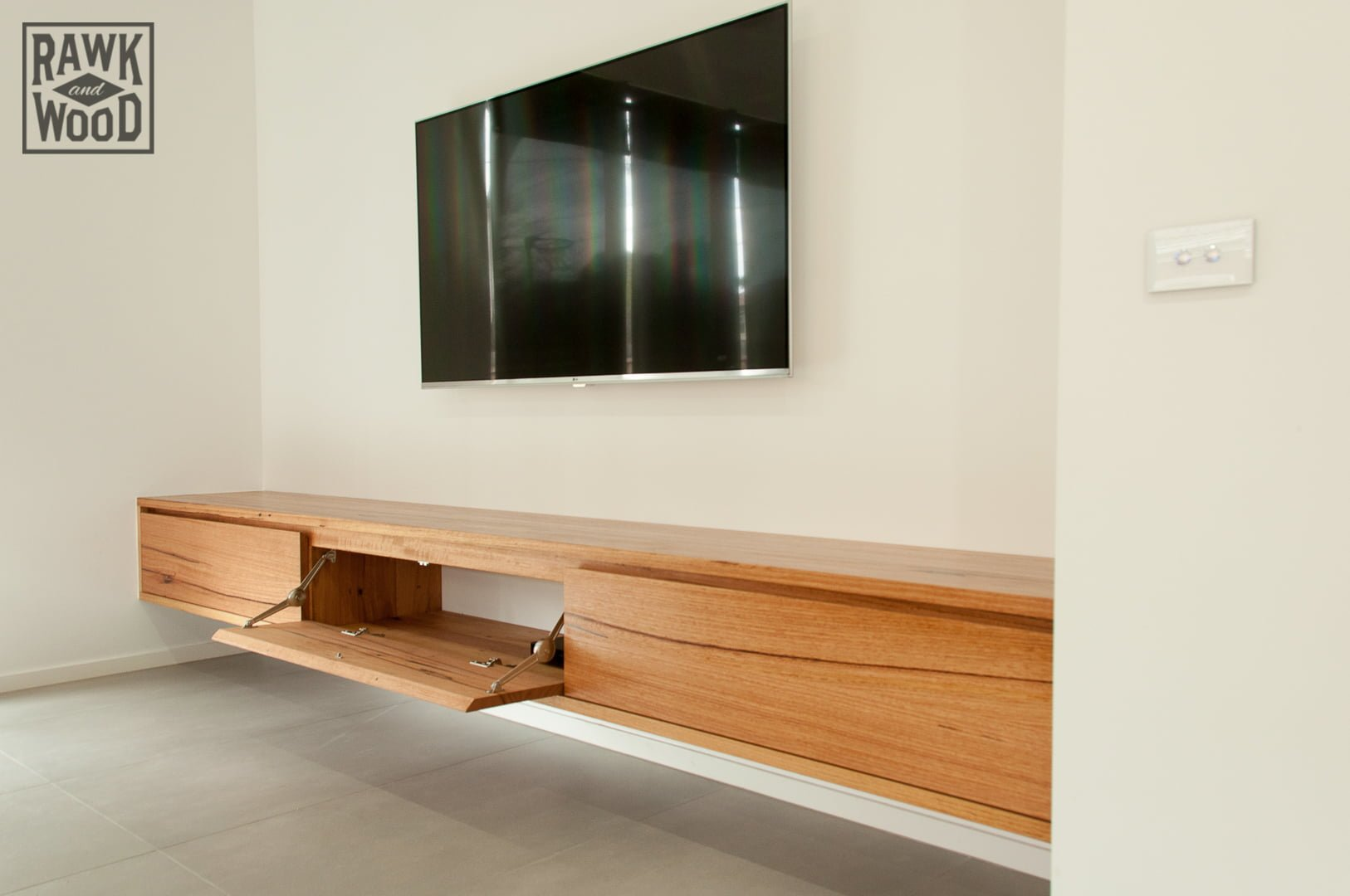 Recycled-Timber-TV-Unit-02, made in Melbourne by Rawk and Wood