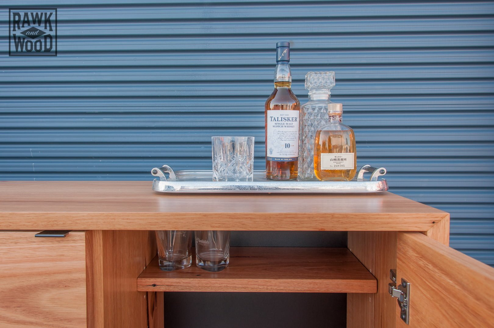 recycled-timber-liquor-cabinet, made in Melbourne by Rawk and Wood