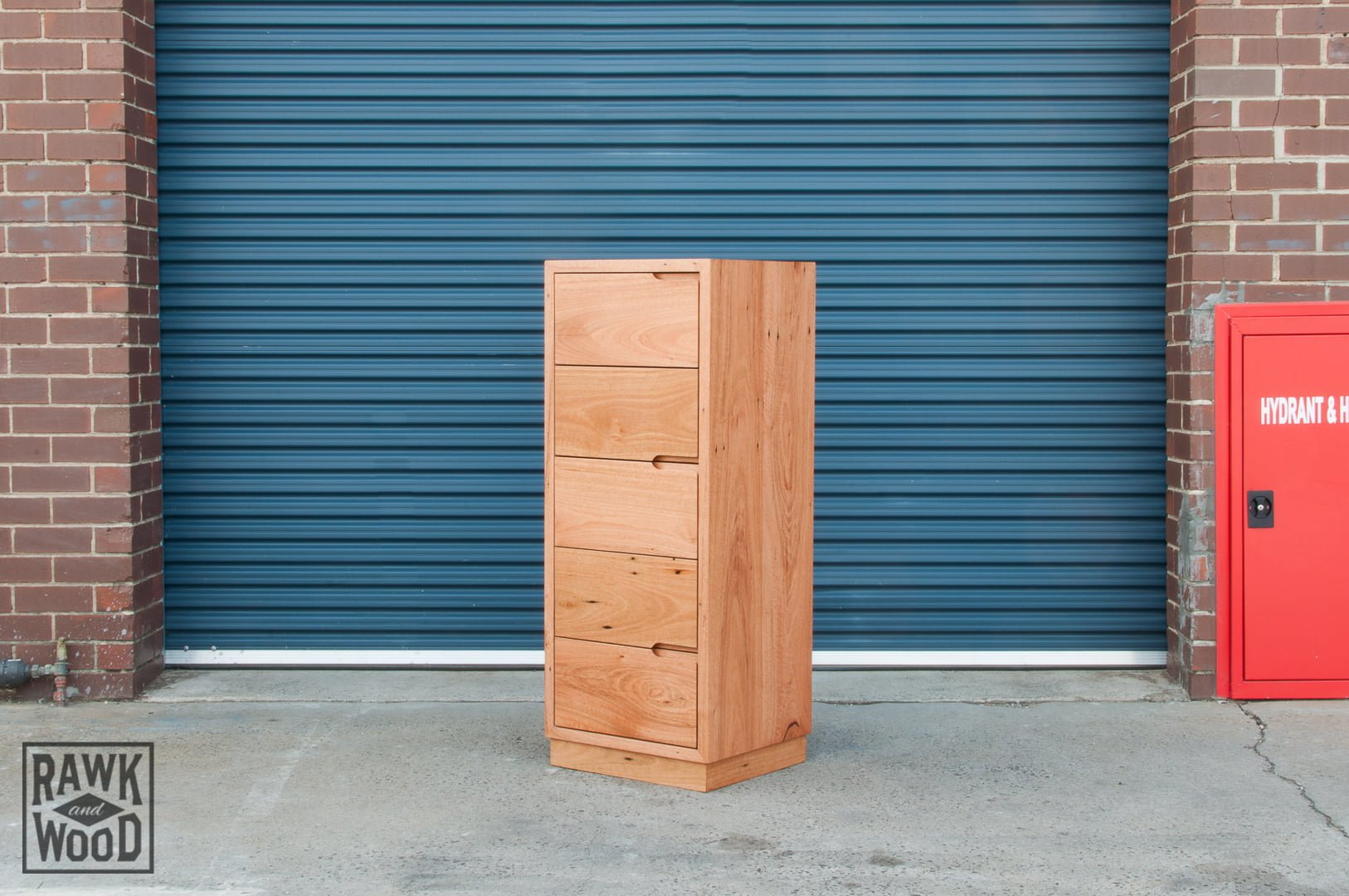 recycled-timber-tallboy, made in Melbourne by Rawk and Wood