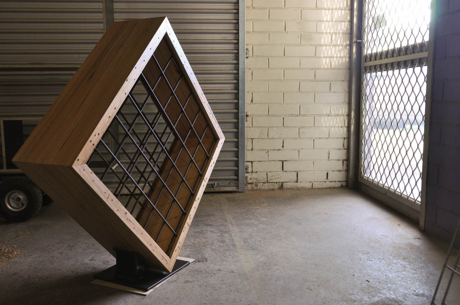 recycled-timber-wine-rack, made in Melbourne by Rawk and Wood