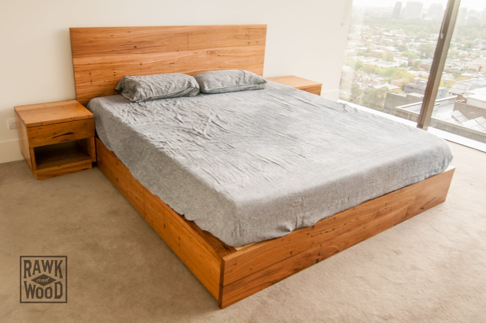 recycled-timber-storage-bed, made in Melbourne by Rawk and Wood