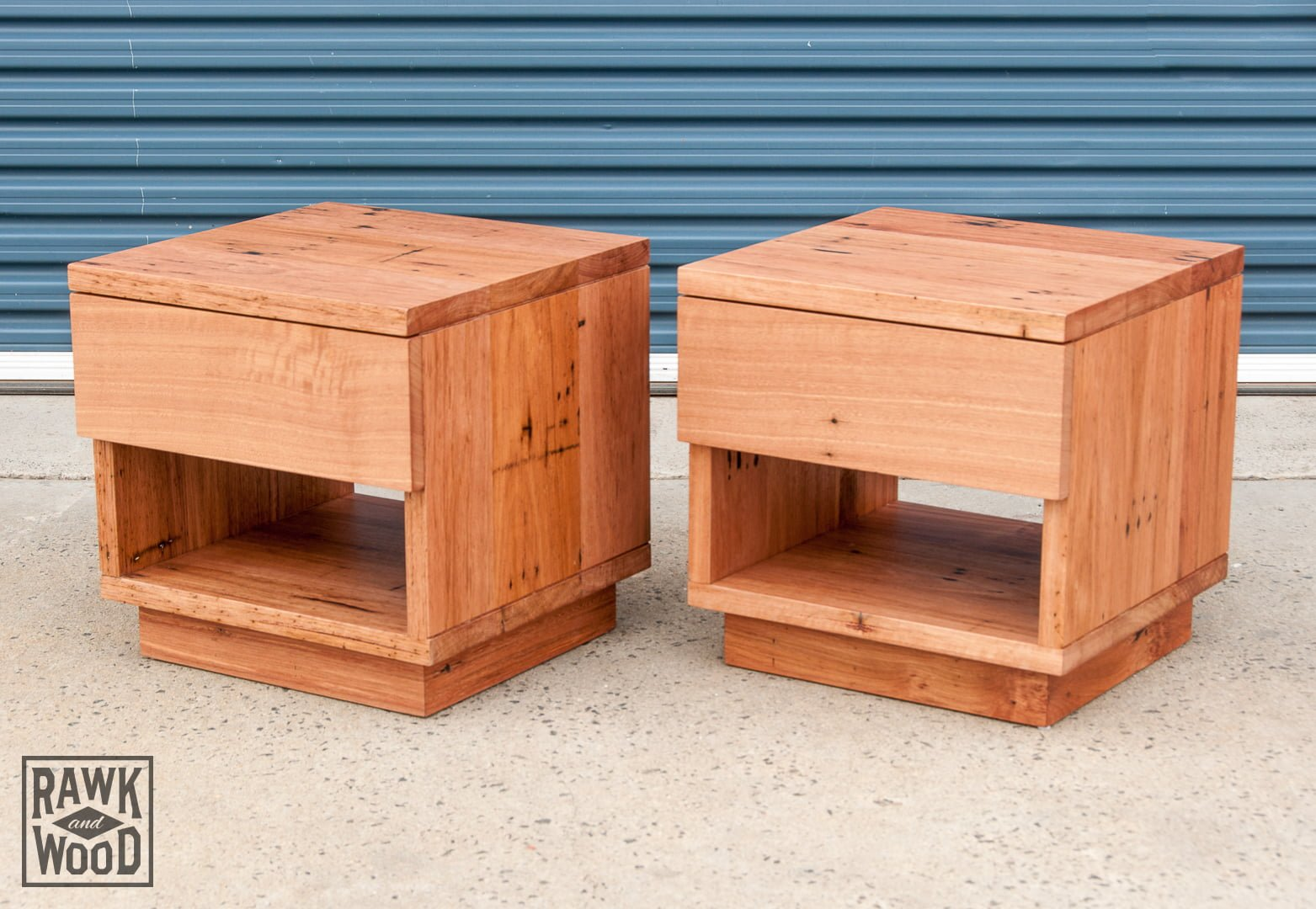 recycled-timber-bedside-tables, made in Melbourne by Rawk and Wood