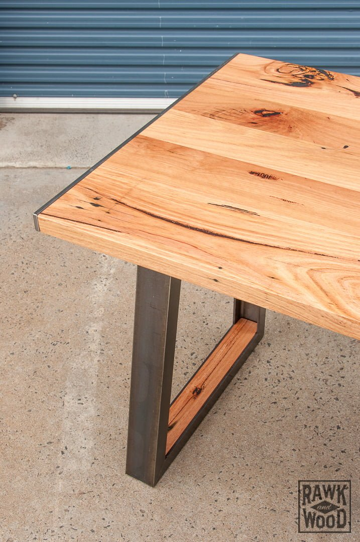 recycled-timber-office-desk, made in Melbourne by Rawk and Wood