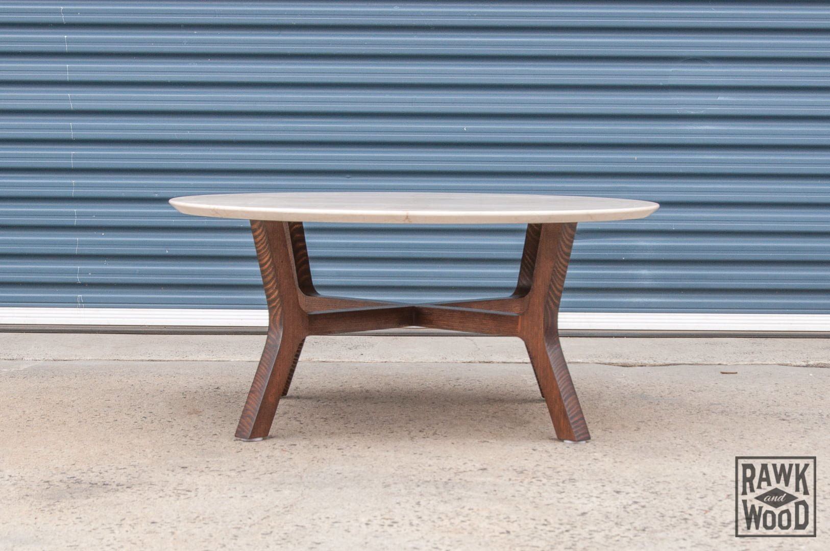 recycled-timber-and-marble-coffee-table, custom-made in Melbourne by Rawk and Wood