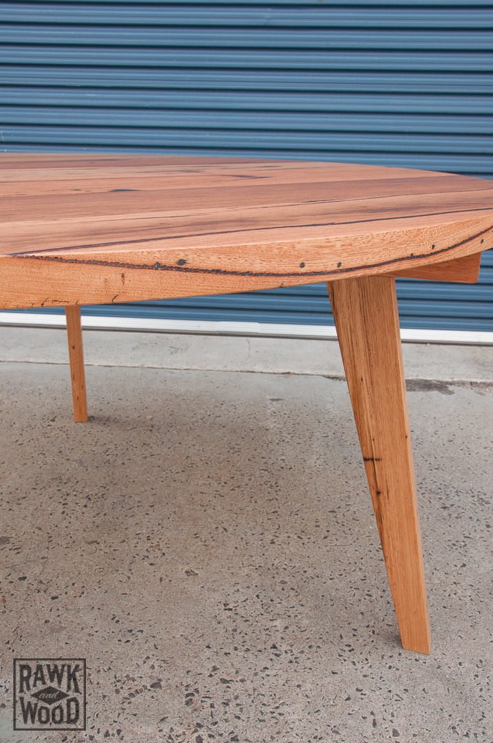 recycled-messmate-dining, custom-made in Melbourne by Rawk and Wood