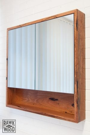 recycled-messmate-shaving-cabinet, custom-made in Melbourne by Rawk and Wood