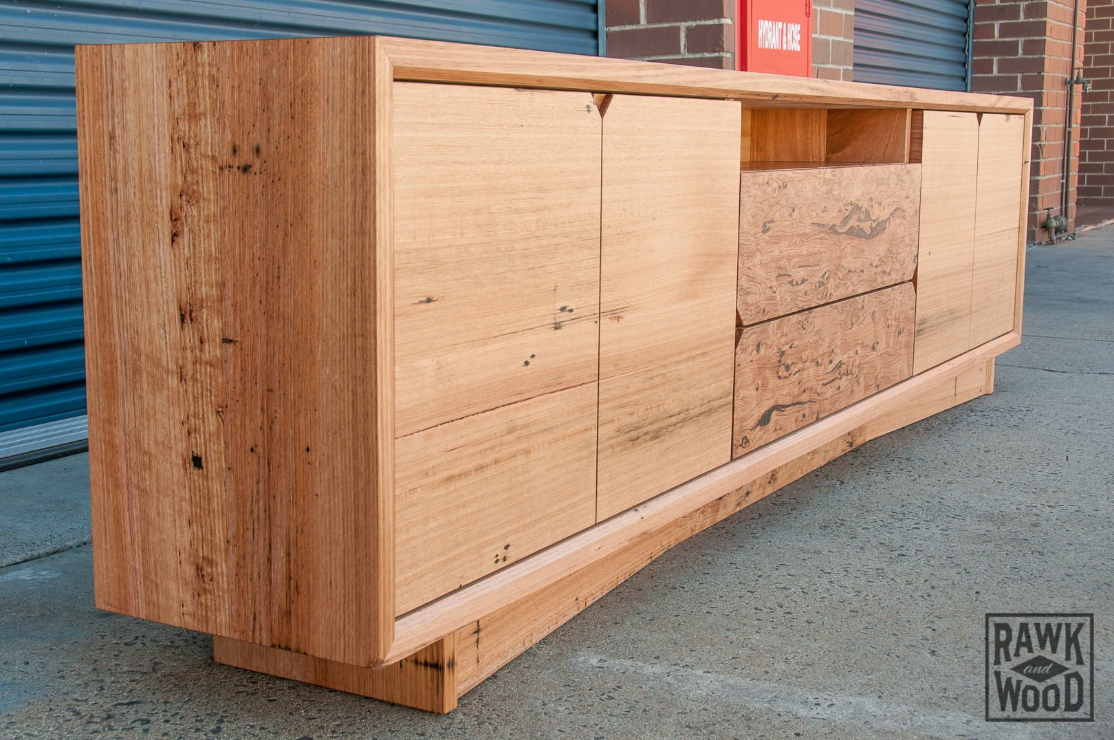 recycled-vic-ash-tv-unit, custom-made in Melbourne by Rawk and Wood