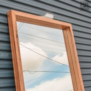 recycled-messmate-mirror, custom-made in Melbourne by Rawk and Wood