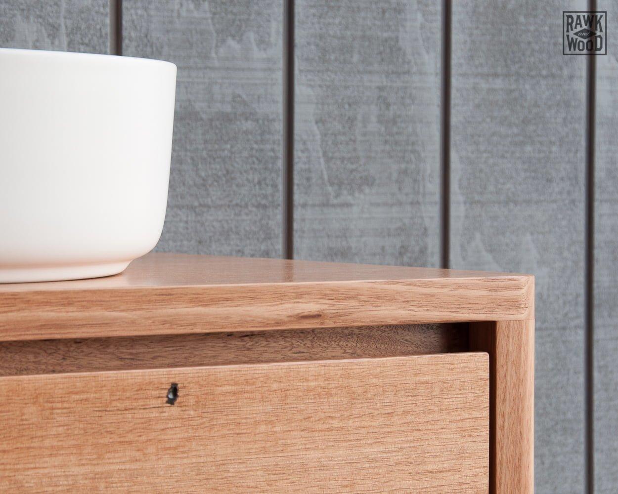 reclaimed-wood-bathroom-vanity, custom-made in Melbourne by Rawk and Wood