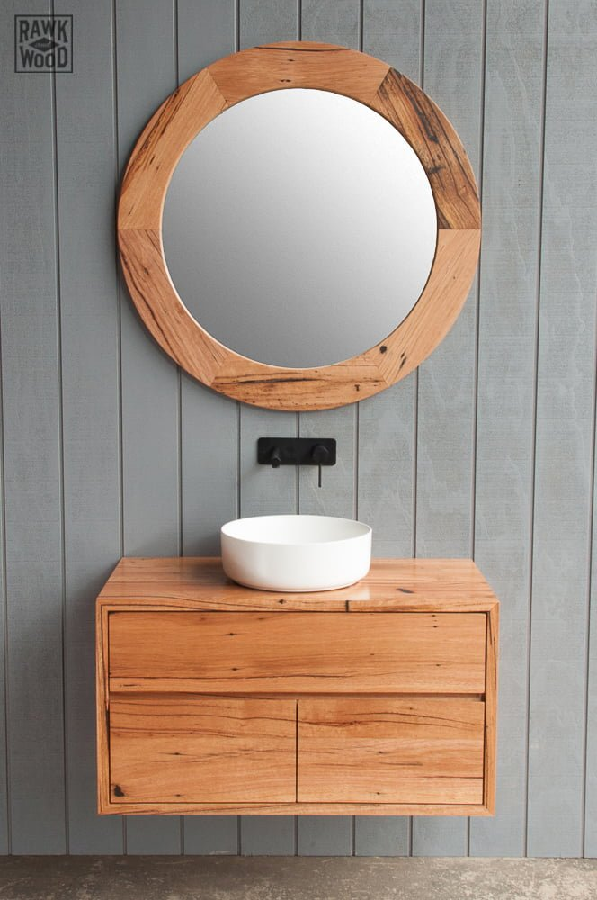 recycled-timber-vanity, made in Melbourne by Rawk and Wood