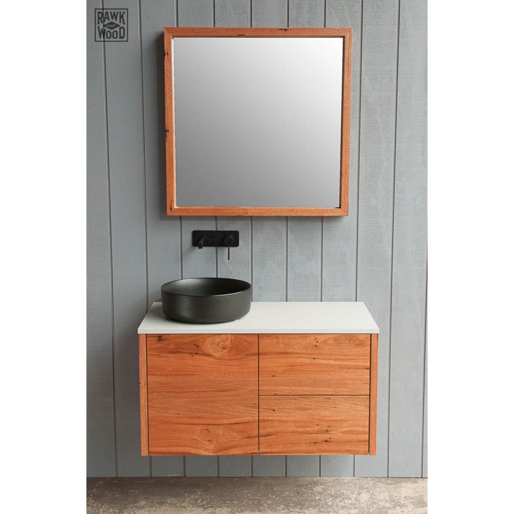 recycled-messmate-bathroom-vanity, made in Melbourne by Rawk and Wood