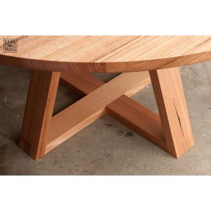 recycled-messmate-round-table, made in Melbourne by Rawk and Wood